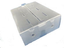High quality pp corrugated plastic boxes transparent