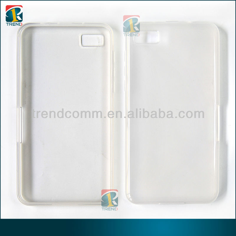 Ultrathin transparent tpu case for Blackberry z10