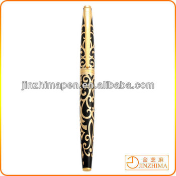 High quality promotional gift golden line pen