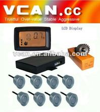 Colorful LCD With 8 sensors Parking Sensor for parking aids// VCAN0387-5