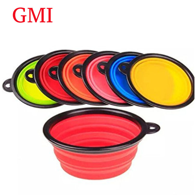 Foldable Expandable Silicone Dog Bowl for Pet Dog Food Water Feeding Portable Travel Dog Bowl
