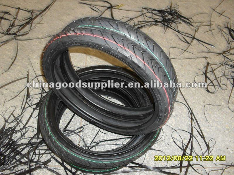 Wear resisting natural rubber motorcycle tire 60/90-14
