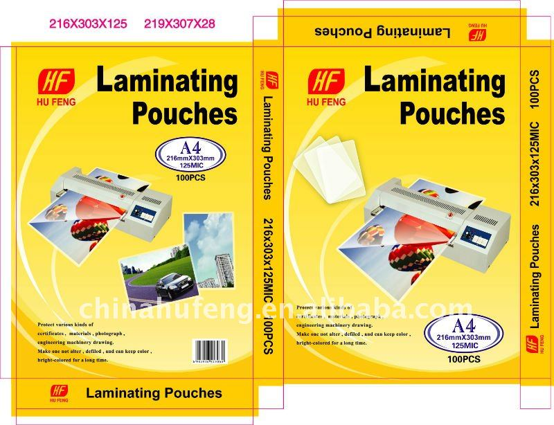 Laminating pouches A4 125mic