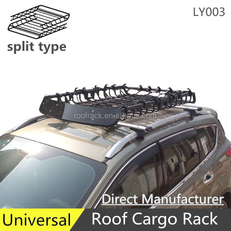 LY003 offroad universal steel roof rack luggage rack roof cargo basket