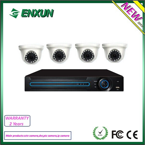 New Product 4ch AHD DVR kit with 720P cctv cameras ahd camera security