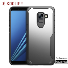 Newest mobile back cover PC TPU Shock proof phone case for Samsung Galaxy A8 2018 Back cover