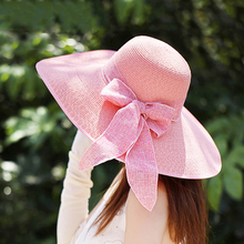 New fashion elegant paper sunhat lady women beach wide brim straw summer hat