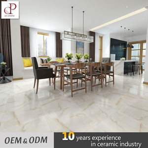 Floor Tiles Indian Price 60X60 Glossy Polished Glazed Marble Looking Crystal Porcelain Tile