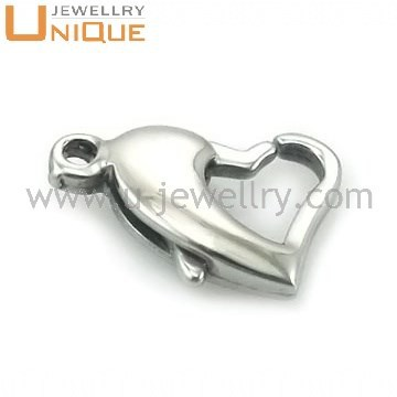 Stainless steel heart Lobster Clasps