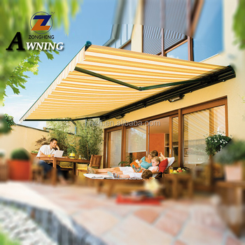 outdoor retractable cassette aluminum side awning