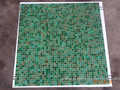 Green art mosaic glass