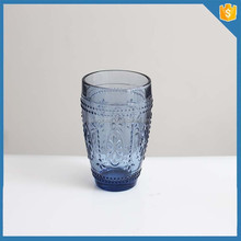 Creative 2012 Solid Color Blue lead free glass cup