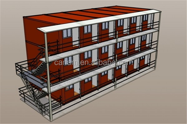 Flat pack container hotel design