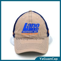 2015 fashion custom-made 6 panel mesh cap 189 with flat embroidery and plastic velcro