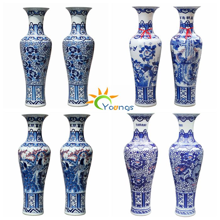 100cm tall vase ceramic floor vase large with hand painted craft
