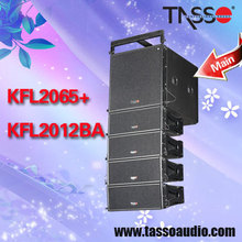 Dual 12 subwoofer speaker box 3 way case line array system