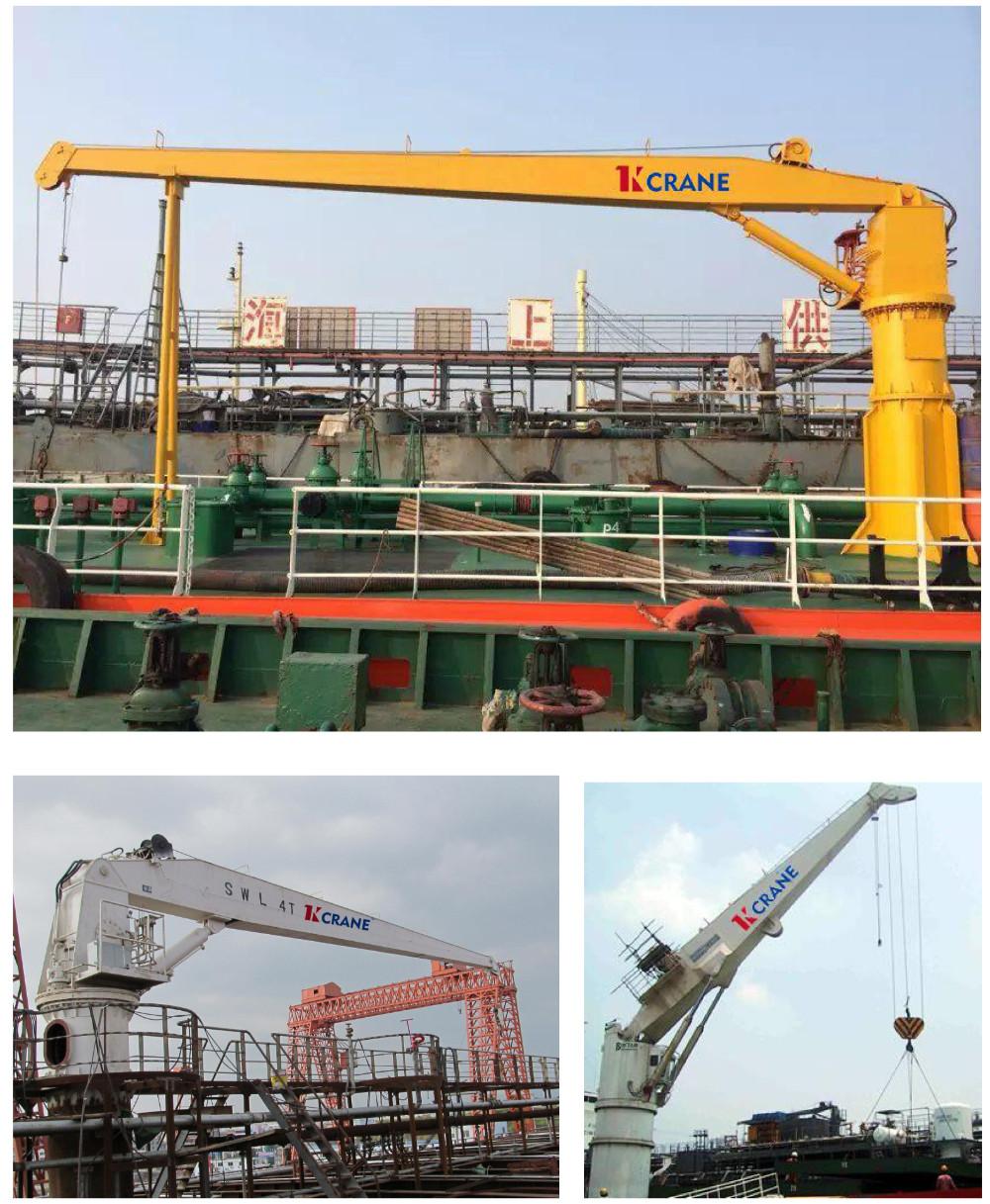 Yacht Hydraulic Crane : Marine electric hydraulic deck jib crane fixed boom ship