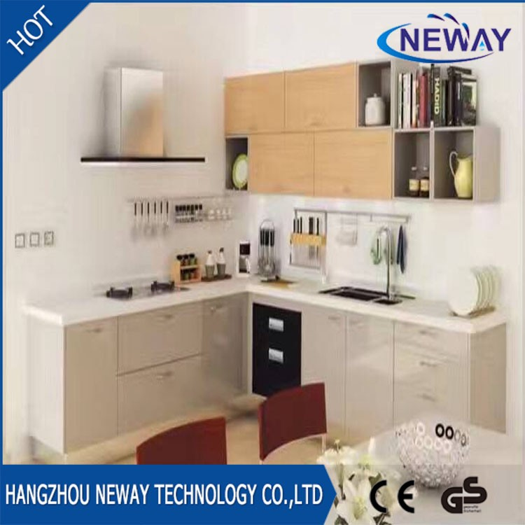Competitive price melamine kitchen cabinet modern