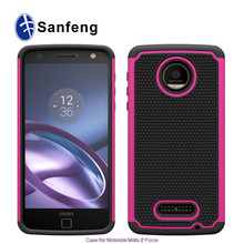 Carrier Verizon Wireless for Moto Z Force Droid , Shock Absorption Drop Protect Hybrid phone case