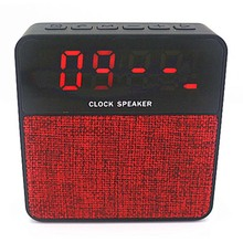 Cube Cloth Fabric Support Hands Free Call,FM and TF Card Alarm Clock Bluetooth Speaker