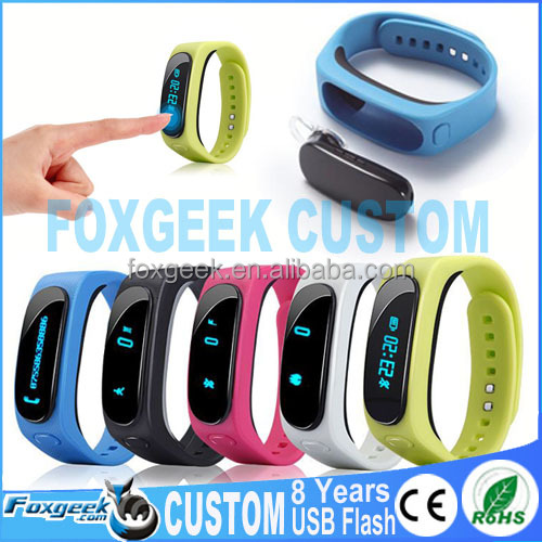 Wireless Smart Bracelet Bluetooth Earphone Call Talkband Wristband Watch with Pedometer/Sleep Monitor for iPhone/Samsung Phones