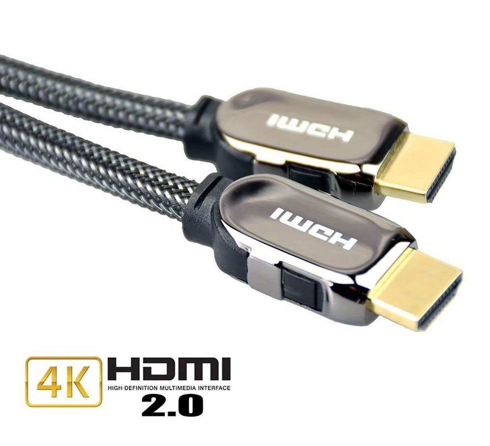 30m 40m 50m Nylon Braid HDMI Cable for Engineering Project