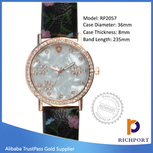 Low price Vogue Exporter PU Leather Lady Watch, dress watch