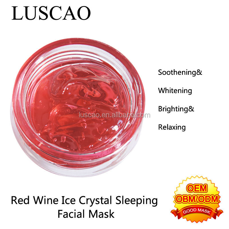 wholesale importer of chinese cosmetics in india delhi red wine crystal whitening nourish skin care facial mask