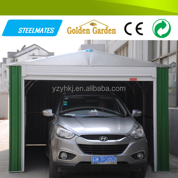 Pre-painted color coated online shopping cheap steel carport garage canopy
