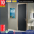 High Quality Veneer Flush Bathroom Wooden Swing Single Leaf Pvc Door