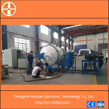 Horizontal nduction type carbon nano vacuum sintering machine