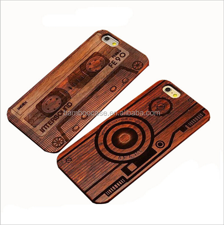 Luxury Carving Wood Phone Case For Iphone Accessories Customized 100% Bamboo Wooden Cell Phone Cover For <strong>Apple</strong> 5 6 6s 7 plus