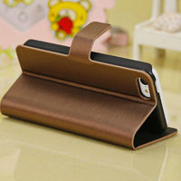 Wallet Leather Case For iPhone 5c Brushed PU Leather cover for iPhone 5c Phone case cover for iPhone 5c Wallet design Side Flip