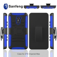 China wholesale 3 in1 hybrid hard cell phone case for ZTE Imperial Max strong box case cover