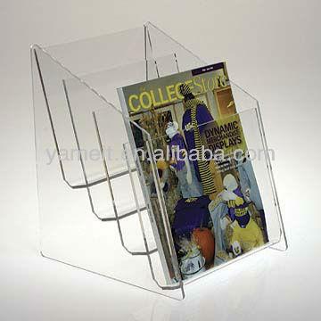 Moden acrylic magazine stand