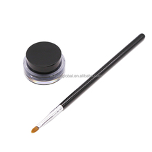No MOQ Private Label Mineral Waterproof Long-Wear Eyeliner Gel kit with eyeliner brush