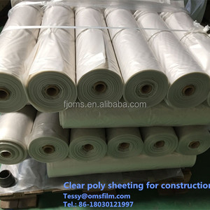Clear plastic poly sheeting roll for rainy covering