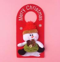 Professional Factory Wholesale Cheap High Quality Felt Christmas Snowman Door Decoration