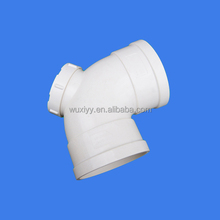 PVC fitting name 90 degree elbow with checking hole