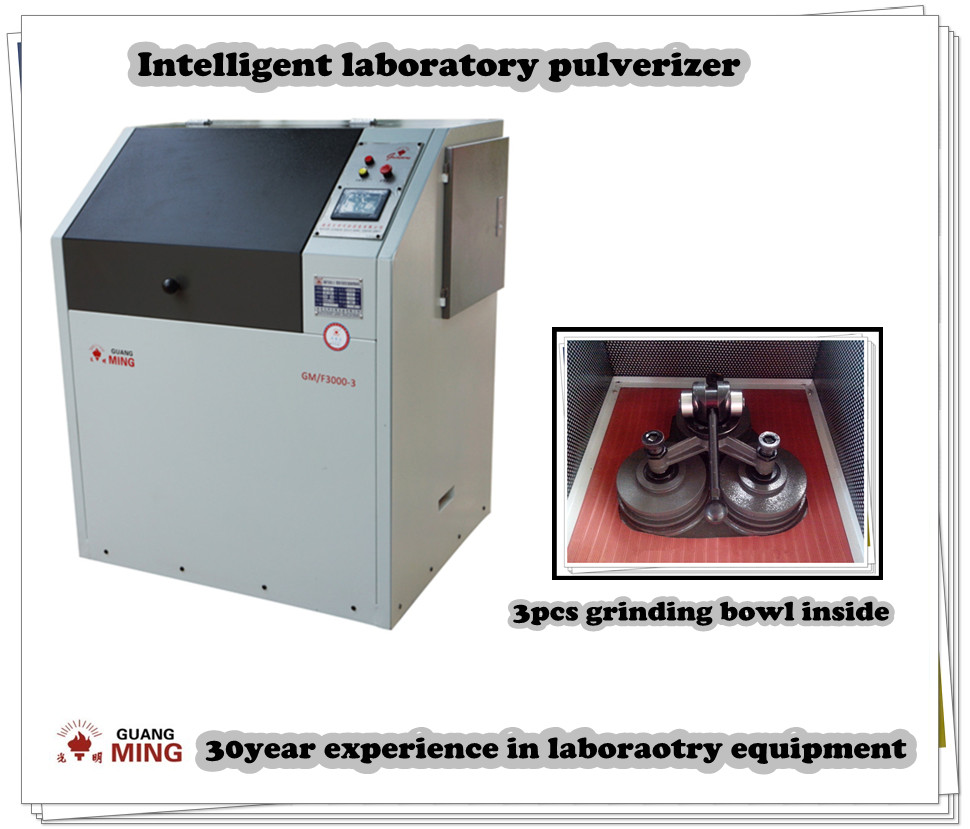 Touch screen operation micro pulveriser used in laboratory grinding rock&ore to analyzable size