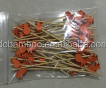 red color pineapple pattern bead bamboo sticks