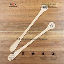 Disposable Wooden Stir Stick Bamboo Coffee Drink Muddler For Cafe& Coffee Shop