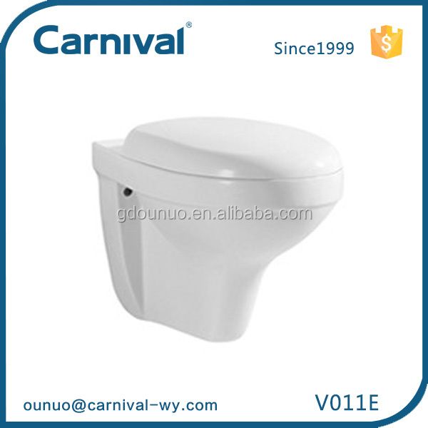 Restroom Concealed water tank dual flush Washdown Wall hung Toilet V011E