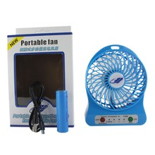 Best Gift Emergency Strong Wind Micro Colorful Portable Rechargeable Plastic Led Light Electrical USB Mini Fan