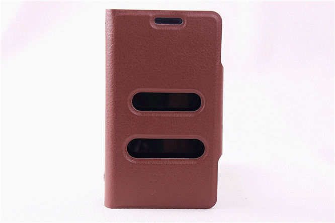 Lychee PU Leather Wallet case For Samsung Galaxy S2 i9100 with caller ID display function With Stand