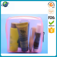 Promotional items clear plastic pvc cosmetic bag with zipper