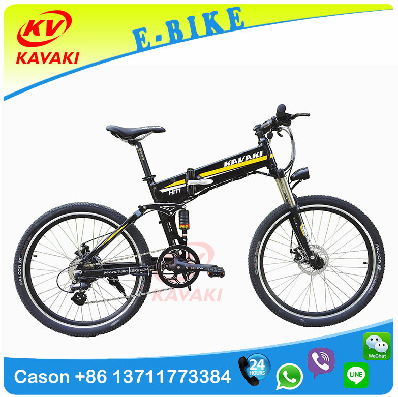 KAVAKI Wholesale 26'' Fat Tire Battery Electric Bike Kit Folding Electric Bike Mountain Electric Bike Bicycle