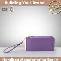 4455-Newly coming wholesale trendy lady genuine leather functional clutch wallet 2016