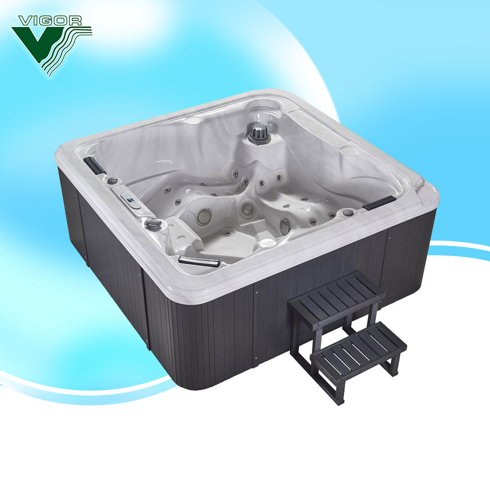 Factory Triangle Hot Tub Spa With 61pcs Stain Steel Jet & Pop Up ...