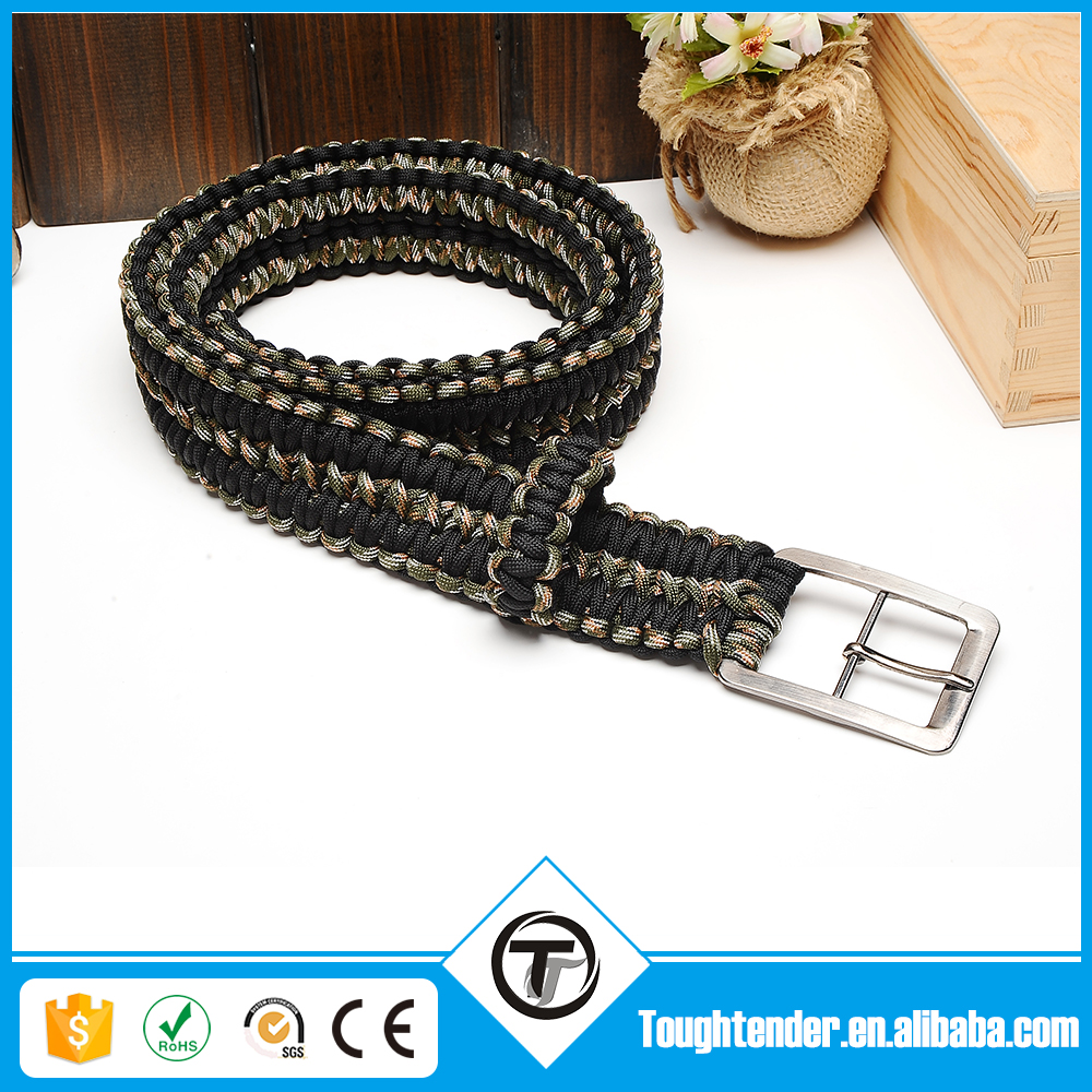 wholesale survival 550 paracord belt ,high quality camping equipment survival